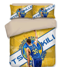 Load image into Gallery viewer, Basketball Golden State Warriors Stephen Curry Basketball #4 Duvet Cover Quilt Cover Pillowcase Bedding Set Bed Linen Home Decor