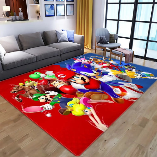 Super Mario Bros #2 Graphic Carpet Living Room Bedroom Sofa Mat Door Mat Kitchen Bathroom Mat for Home Decoration