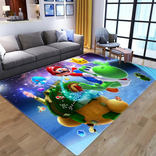 Super Mario Bros #3 Graphic Carpet Living Room Bedroom Sofa Mat Door Mat Kitchen Bathroom Mat for Home Decoration