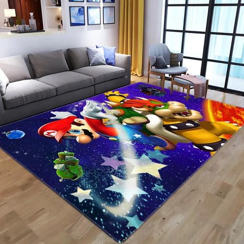 Super Mario Bros #4 Graphic Carpet Living Room Bedroom Sofa Mat Door Mat Kitchen Bathroom Mat for Home Decoration