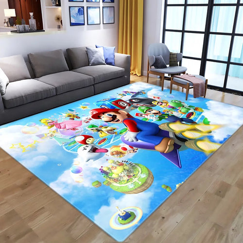 Super Mario Bros #5 Graphic Carpet Living Room Bedroom Sofa Mat Door Mat Kitchen Bathroom Mat for Home Decoration