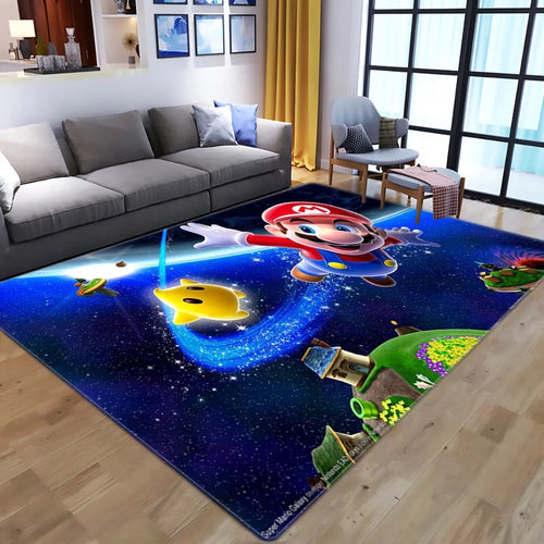 Super Mario Bros #6 Graphic Carpet Living Room Bedroom Sofa Mat Door Mat Kitchen Bathroom Mat for Home Decoration