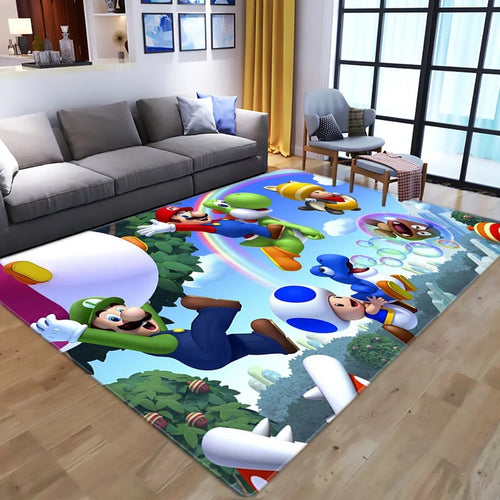 Super Mario Bros #8 Graphic Carpet Living Room Bedroom Sofa Mat Door Mat Kitchen Bathroom Mat for Home Decoration