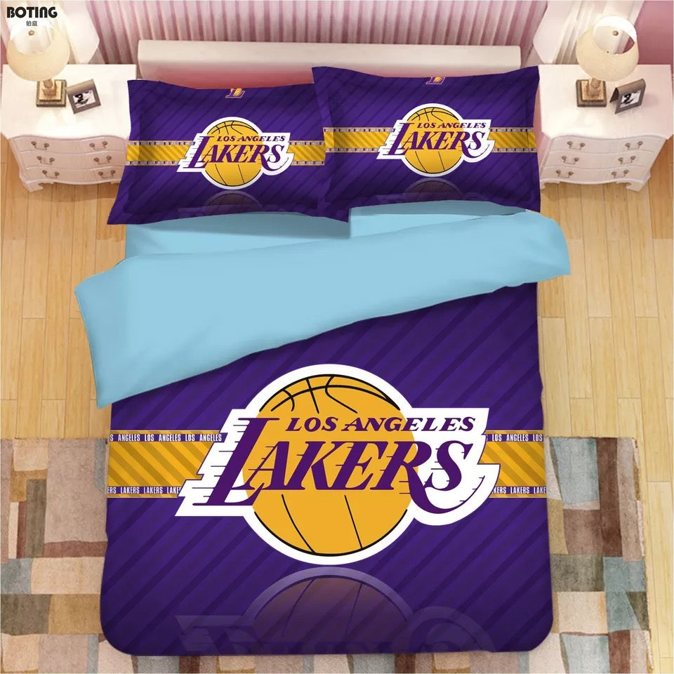 Basketball Los Angeles Lakers 24 Kobe Bryant #1 Duvet Cover Quilt Cover Pillowcase Bedding Set Bed Linen Home Decor
