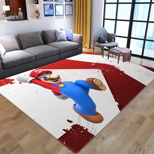 Super Mario Bros #10 Graphic Carpet Living Room Bedroom Sofa Mat Door Mat Kitchen Bathroom Mat for Home Decoration