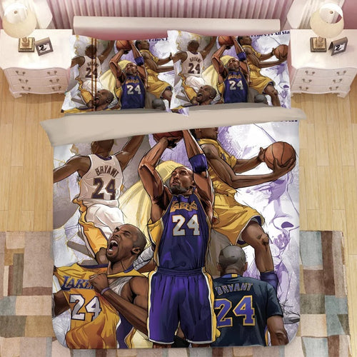 Basketball Lakers Kobe Bryant Basketball #7 Duvet Cover Quilt Cover Pillowcase Bedding Set Bed Linen Home Decor