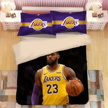 Load image into Gallery viewer, Basketball Lakers LeBron James Basketball #8 Duvet Cover Quilt Cover Pillowcase Bedding Set Bed Linen Home Decor
