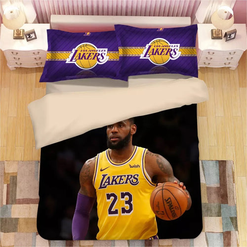 Basketball Lakers LeBron James Basketball #8 Duvet Cover Quilt Cover Pillowcase Bedding Set Bed Linen Home Decor
