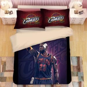 Basketball Cleveland Cavaliers LeBron James Basketball #9 Duvet Cover Quilt Cover Pillowcase Bedding Set Bed Linen Home Decor