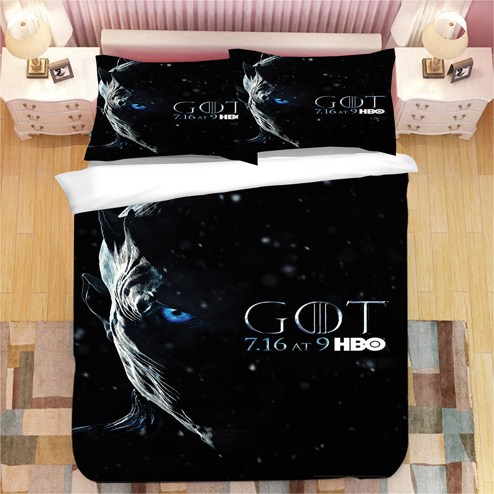 Game of Thrones Night King #2 Duvet Cover Quilt Cover Pillowcase Bedding Set Bed Linen Home Decor