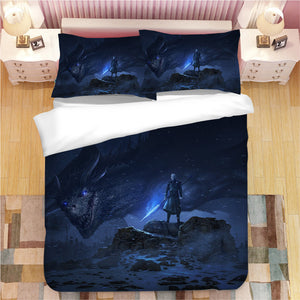 Game of Thrones Night King #3 Duvet Cover Quilt Cover Pillowcase Bedding Set Bed Linen Home Decor