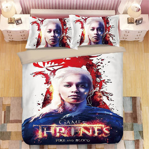 Game of Thrones Daenerys Targaryen #13 Duvet Cover Quilt Cover Pillowcase Bedding Set Bed Linen Home Decor