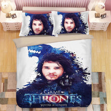 Load image into Gallery viewer, Game of Thrones Jon Snow #11 Duvet Cover Quilt Cover Pillowcase Bedding Set Bed Linen Home Decor