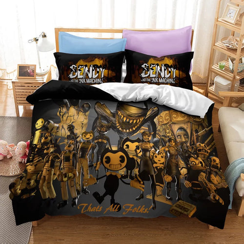 Bendy And The Ink Machine #19 Duvet Cover Quilt Cover Pillowcase Bedding Set Bed Linen Home Bedroom Decor
