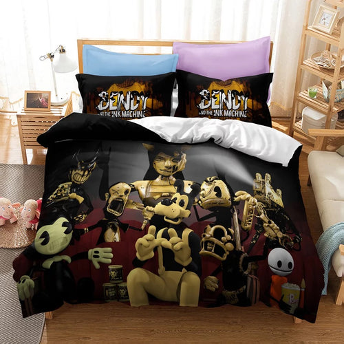 Bendy And The Ink Machine #22 Duvet Cover Quilt Cover Pillowcase Bedding Set Bed Linen Home Bedroom Decor