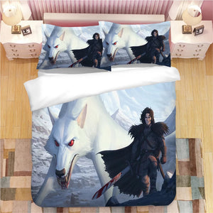 Game of Thrones Jon Snow #12 Duvet Cover Quilt Cover Pillowcase Bedding Set Bed Linen Home Decor