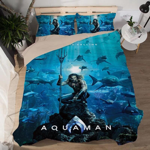 Aquaman #1 Duvet Cover Quilt Cover Pillowcase Bedding Set Bed Linen