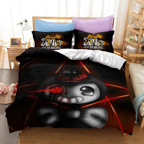 Bendy And The Ink Machine #30 Duvet Cover Quilt Cover Pillowcase Bedding Set Bed Linen Home Bedroom Decor