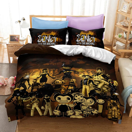 Bendy And The Ink Machine #36 Duvet Cover Quilt Cover Pillowcase Bedding Set Bed Linen Home Bedroom Decor