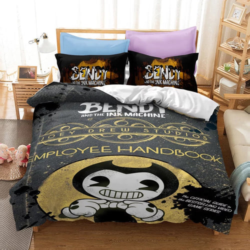 Bendy And The Ink Machine #38 Duvet Cover Quilt Cover Pillowcase Bedding Set Bed Linen Home Bedroom Decor