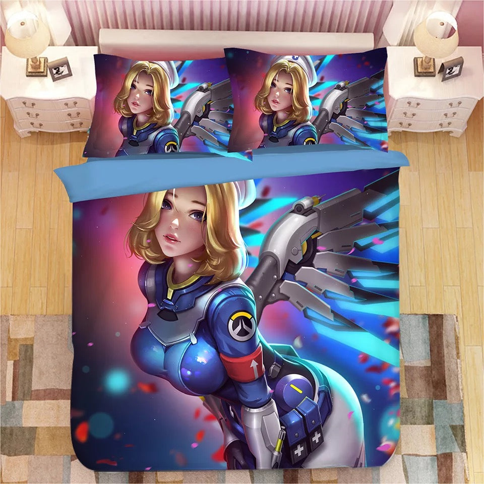 Game Overwatch DVA Tracer Mercy Widowmaker Symmetra #10 Duvet Cover Quilt Cover Pillowcase Bedding Set Bed Linen Home Decor