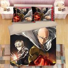 Load image into Gallery viewer, One Punch Man #3 Duvet Cover Quilt Cover Pillowcase Bedding Set Bed Linen Home Decor