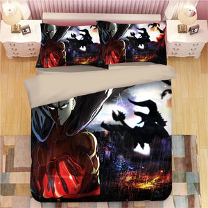 One Punch Man #13 Duvet Cover Quilt Cover Pillowcase Bedding Set Bed Linen Home Decor