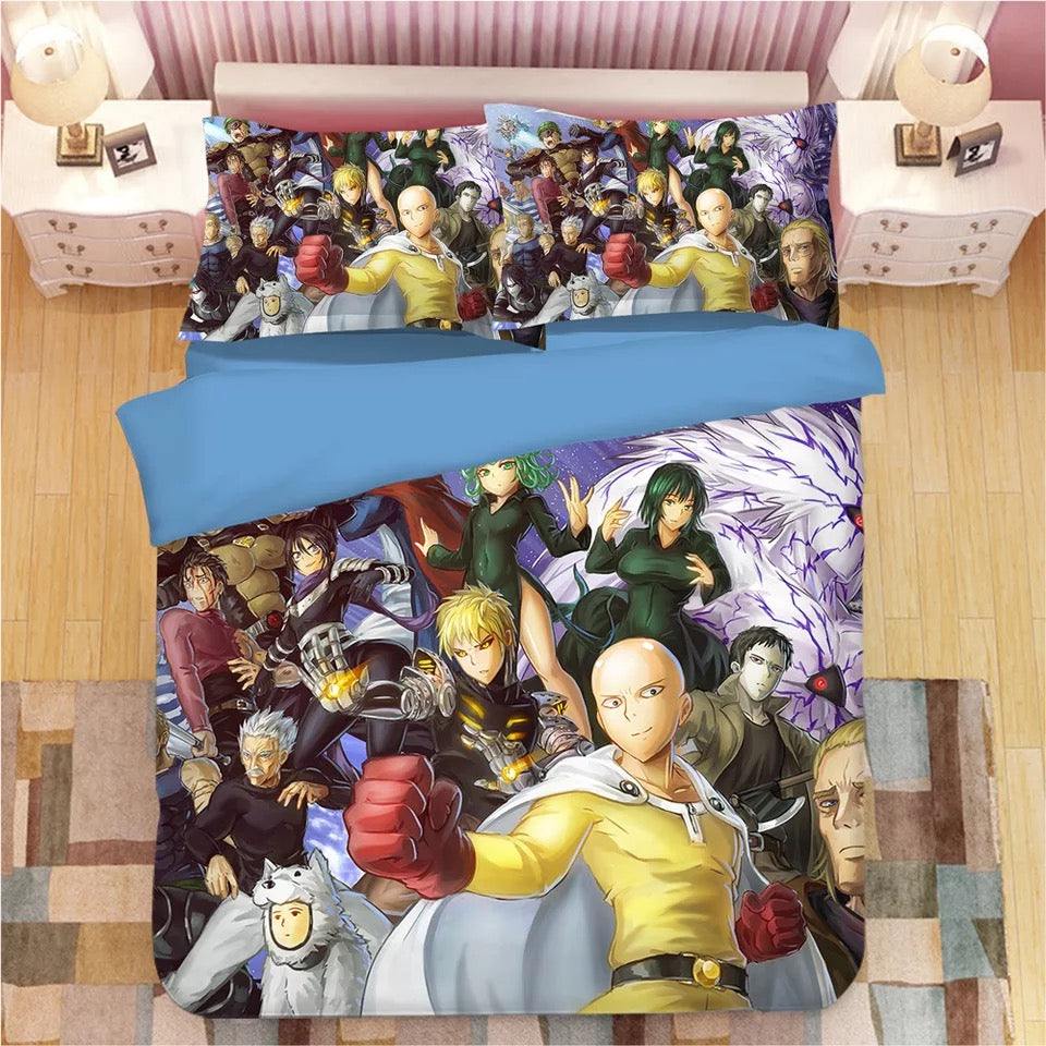 One Punch Man #14 Duvet Cover Quilt Cover Pillowcase Bedding Set Bed Linen Home Decor
