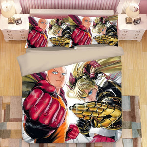 One Punch Man #19 Duvet Cover Quilt Cover Pillowcase Bedding Set Bed Linen Home Decor