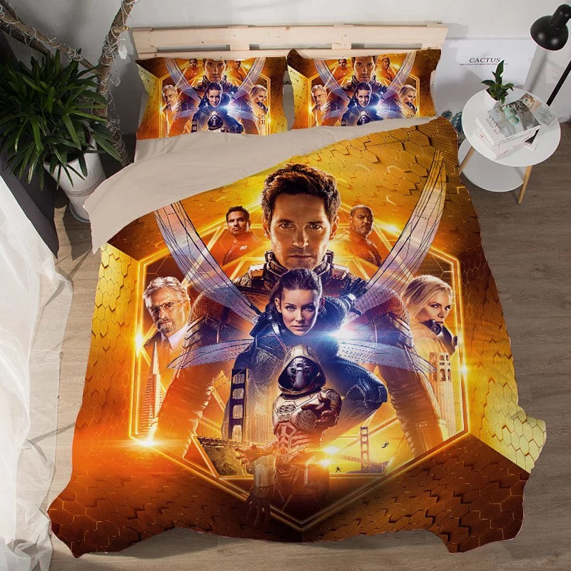 Ant-Man and the Wasp Antman #3 Duvet Cover Quilt Cover Pillowcase Bedding Set Bed Linen Home Decor