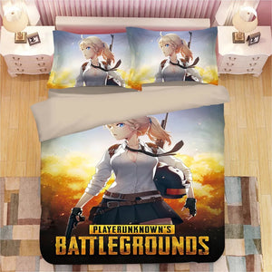 Game PUBG Playerunknown's Battlegrounds #5 Duvet Cover Quilt Cover Pillowcase Bedding Set Bed Linen Home Decor