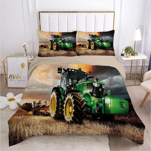 John Agriculture Tractor Deere #3 Duvet Cover Quilt Cover Pillowcase Bedding Set Bed Linen Home Bedroom Decor