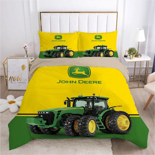 John Deere #4 Duvet Cover Quilt Cover Pillowcase Bedding Set Bed Linen Home Bedroom Decor
