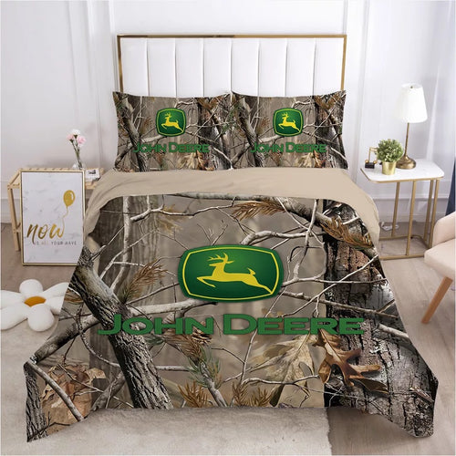 John Deere #9 Duvet Cover Quilt Cover Pillowcase Bedding Set Bed Linen Home Bedroom Decor