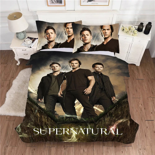 Supernatural Dean Sam Winchester #8 Duvet Cover Quilt Cover Pillowcase Bedding Set Bed Linen Home Decor