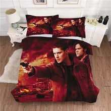 Load image into Gallery viewer, Supernatural Dean Sam Winchester #10 Duvet Cover Quilt Cover Pillowcase Bedding Set Bed Linen Home Decor