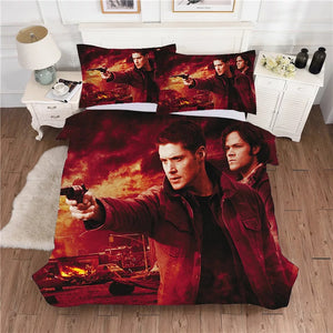 Supernatural Dean Sam Winchester #10 Duvet Cover Quilt Cover Pillowcase Bedding Set Bed Linen Home Decor