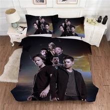 Load image into Gallery viewer, Supernatural Dean Sam Winchester #11 Duvet Cover Quilt Cover Pillowcase Bedding Set Bed Linen Home Decor