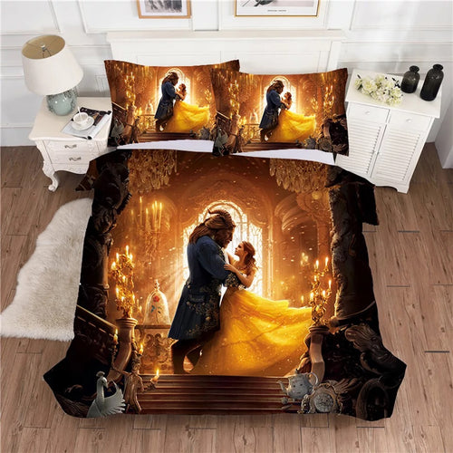 Beauty and the Beast #1 Duvet Cover Quilt Cover Pillowcase Bedding Set Bed Linen Home Decor