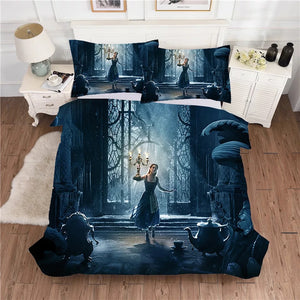 Beauty and the Beast #2 Duvet Cover Quilt Cover Pillowcase Bedding Set Bed Linen Home Decor