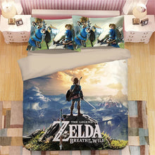 Load image into Gallery viewer, The Legend of Zelda Link #1 Duvet Cover Quilt Cover Pillowcase Bedding Set Bed Linen Home Decor