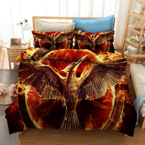 The Hunger Games #2 Duvet Cover Quilt Cover Pillowcase Bedding Set Bed Linen Home Bedroom Decor