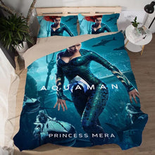 Load image into Gallery viewer, Aquaman Mera #3 Duvet Cover Quilt Cover Pillowcase Bedding Set Bed Linen