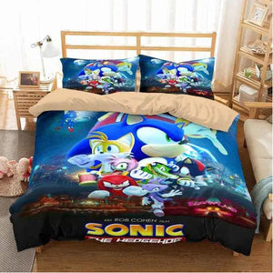 Sonic The Hedgehog #1 Duvet Cover Bedding Set