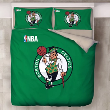 Load image into Gallery viewer, Basketball Boston Celtics Duvet Cover Bedding Set Pillowcase