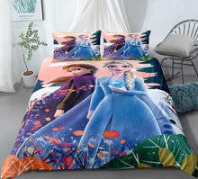 Load image into Gallery viewer, 2019 Frozen Anna Elsa Princess #16 Duvet Cover Quilt Cover Pillowcase Bedding Set Bed Linen Home Bedroom Decor