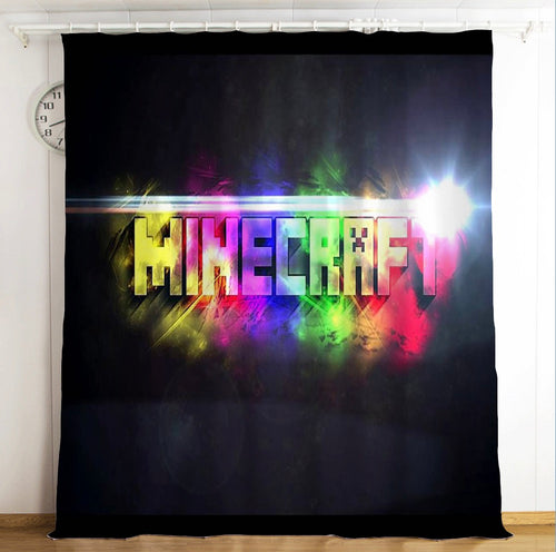 Minecraft #1 Blackout Curtains For Window Treatment Set For Living Room Bedroom