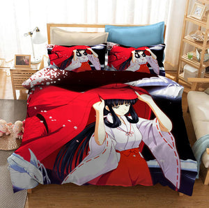 Inuyasha #2 Duvet Cover Quilt Cover Pillowcase Bedding Set Bed Linen Home Bedroom Decor