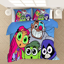Load image into Gallery viewer, Teen Titans Go #2 Duvet Cover Quilt Cover Pillowcase Bedding Set Bed Linen Home Bedroom Decor