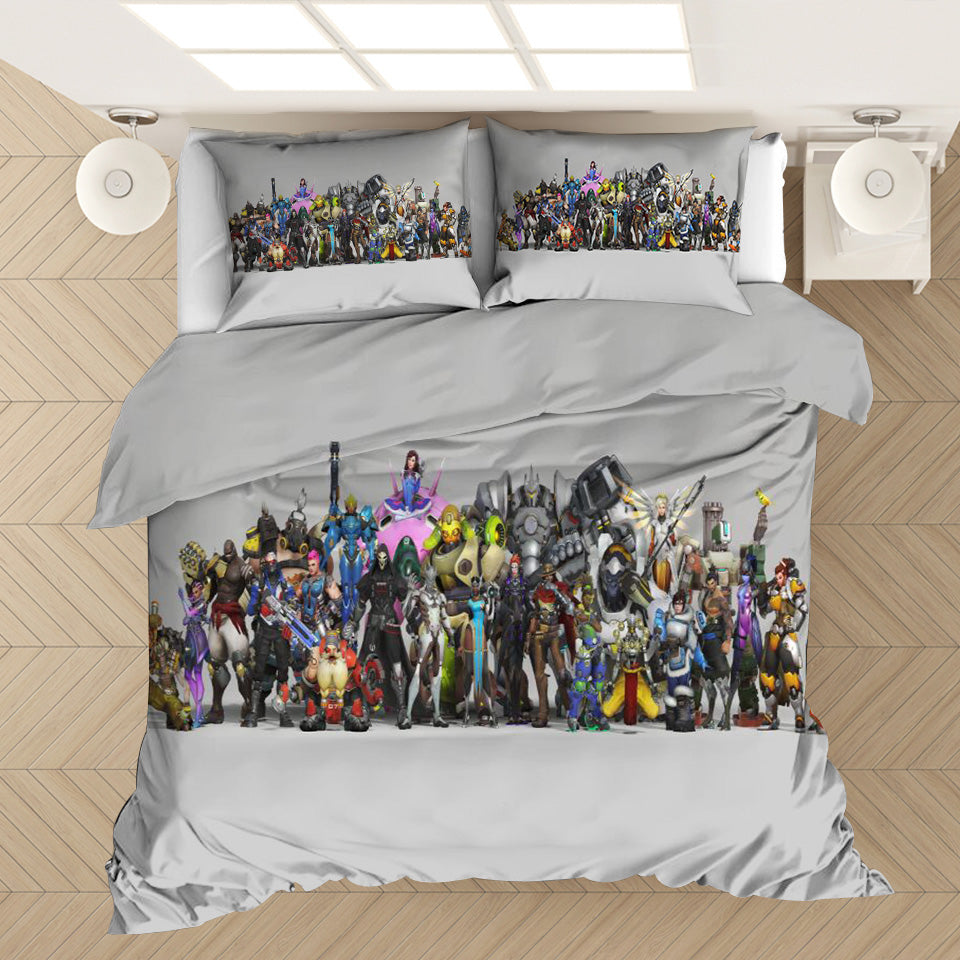 Game Overwatch #32 Duvet Cover Quilt Cover Pillowcase Bedding Set Bed Linen Home Decor